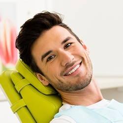 Relaxed man in dental chair
