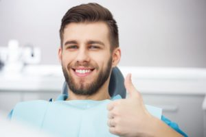 Smiling patient in office